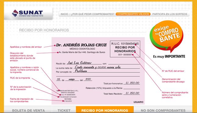 ¿Cómo realizar un recibo por honorarios en el Perú?
